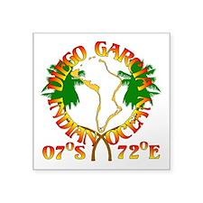 "Diego Garcia Roundell Square Sticker 3"" x 3"""