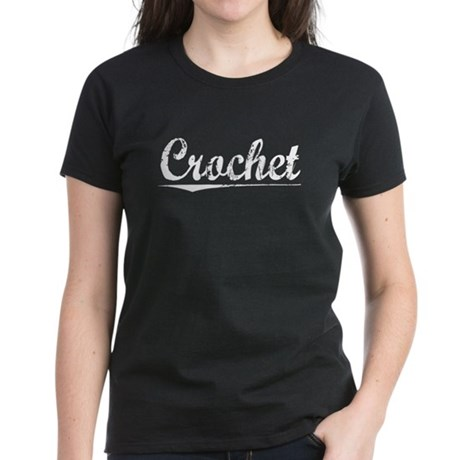 Crochet, Vintage Women's Dark T-Shirt