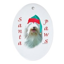 Bearded Paws Oval Ornament