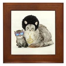 Ghetto kitty Framed Tile