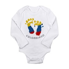 Cute Colombiano Long Sleeve Infant Bodysuit