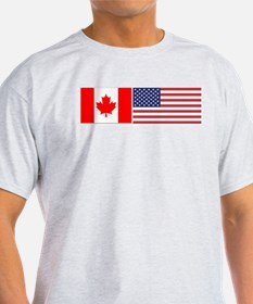 Canada / USA - Ash Grey T-Shirt