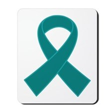 Teal Ribbon Awareness Mousepad