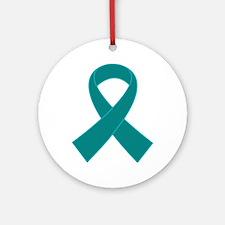 Teal Ribbon Awareness Ornament (Round)