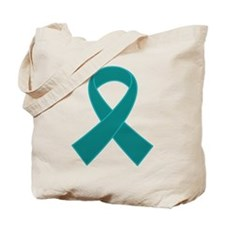 Teal Ribbon Awareness Tote Bag