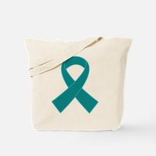 Teal Ribbon Awareness Tote Bag