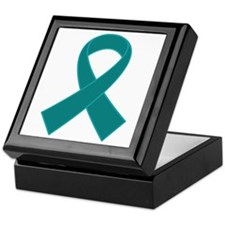Teal Ribbon Awareness Keepsake Box