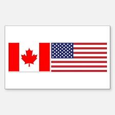 Canada / USA - Sticker (Rectangular)