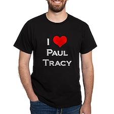 I Love Paul Tracy Black T-Shirt