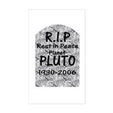 Pluto - RIP Rectangle Decal