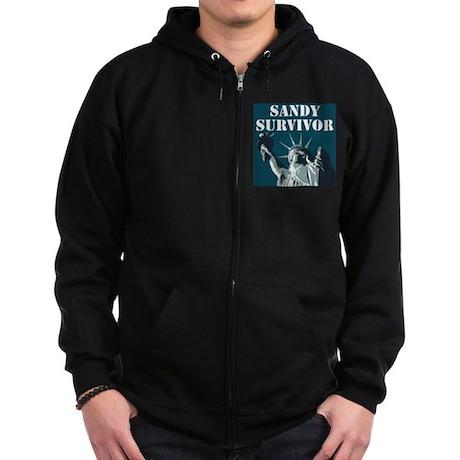 Hurricane Sandy - Sandy Survivor Zip Hoodie (dark)