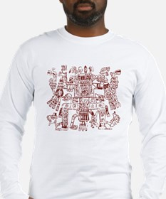 Aztec Artwork Long Sleeve T-Shirt