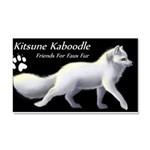 Arctic Fox Label Car Magnet 20 x 12
