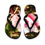 Pink Plantation Rose Flip Flops