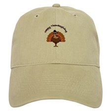 Happy Thanksgiving Turkey - Baseball Cap