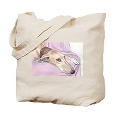 Lurcher on sofa Tote Bag