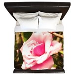 Pink Plantation Rose King Duvet
