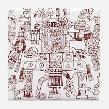 Aztec Artwork Tile Coaster