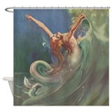 Beautiful mermaid vintage Shower Curtains