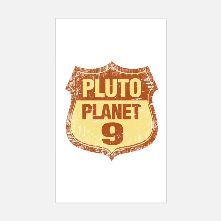 Pluto tshirts and gifts Rectangle Decal