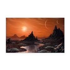 Alien planet, artwork - Car Magnet