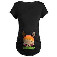 Reindeer Baby Belly Print T-Shirt