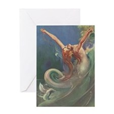 Vintage 1930s Mermaid Greeting Card