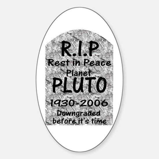 Pluto - Downgraded Oval Decal