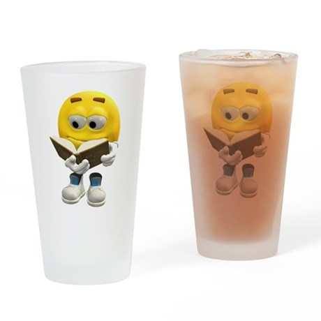 Book Smiley Drinking Glass