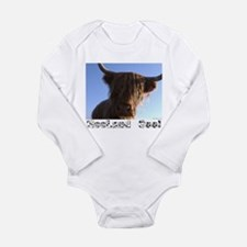 "Scottish ""Heeland Coo"" Infant Creeper Body Suit"
