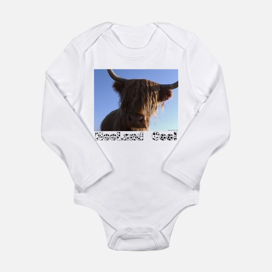 "Scottish ""Heeland Coo"" Infant Creeper Body Suit"