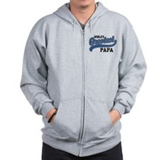 World's Greatest Papa Zip Hoodie