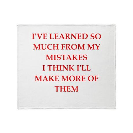 mistake Throw Blanket