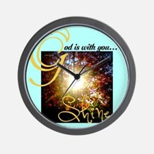 God is with you...Shine Wall Clock