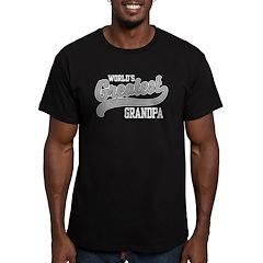 World's Greatest Grandpa Men's Fitted T-Shirt (dar