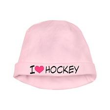 I Heart Hockey baby hat