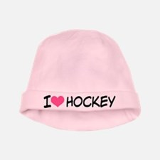 I Heart Hockey baby hat
