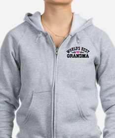 World's Best Grandma Zipped Hoody