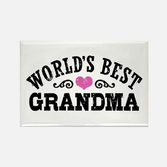 World's Best Grandma Rectangle Magnet