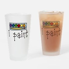 I Paint Drinking Glass