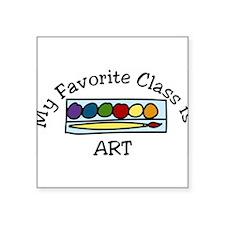 "Art Class Square Sticker 3"" x 3"""
