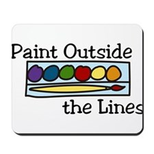 Paint Outside The Lines Mousepad