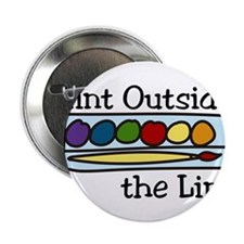 """Paint Outside The Lines 2.25"""" Button"""