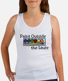 Paint Outside The Lines Women's Tank Top