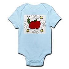 Apple And Worm Infant Bodysuit