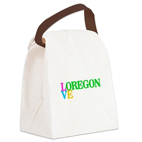 Oregon Grn Lrg Classic I Love Oregon Canvas Lunch