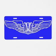 UAV Pilot Wings Aluminum License Plate