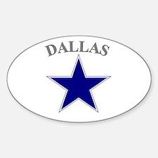 Dallas Oval Bumper Stickers