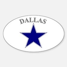 Dallas Oval Stickers