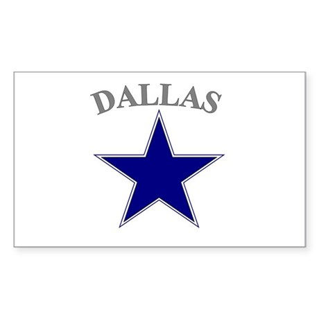 Dallas Rectangle Sticker